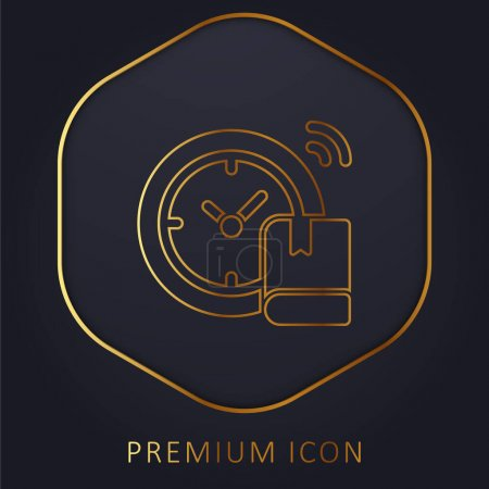 Illustration for Back To School golden line premium logo or icon - Royalty Free Image