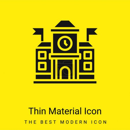 Academy minimal bright yellow material icon