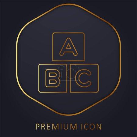 Photo pour Alphabet ligne d'or logo premium ou icône - image libre de droit
