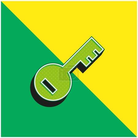 Illustration pour Mot de passe de compte Logo vectoriel 3d moderne vert et jaune - image libre de droit