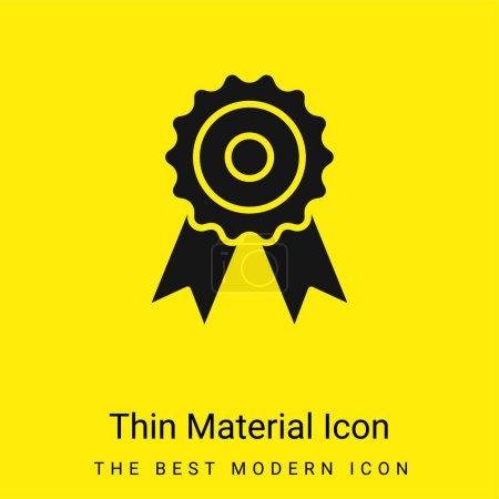 Illustration pour Récompense minimale icône matériau jaune vif - image libre de droit
