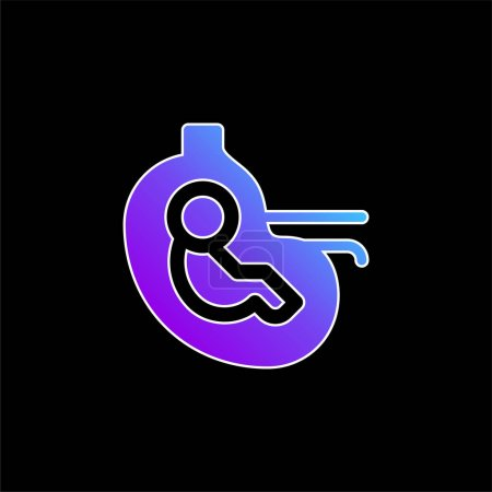 Illustration for Baby blue gradient vector icon - Royalty Free Image