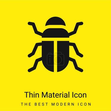 Photo pour Icône matérielle jaune vif minimale de scarabée - image libre de droit