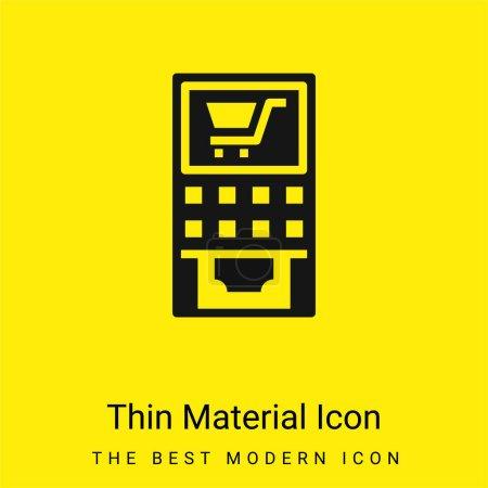 Illustration pour ATM MAchine minime icône matérielle jaune vif - image libre de droit