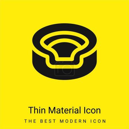 Illustration pour Animal minimal jaune vif icône matérielle - image libre de droit