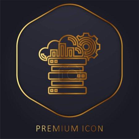 Illustration for Big Data golden line premium logo or icon - Royalty Free Image