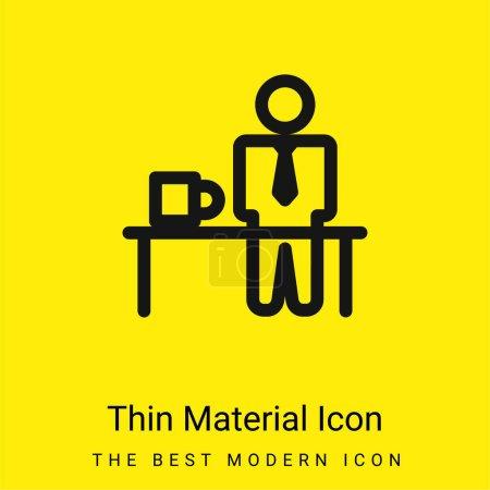 Illustration pour Temps de rupture minimum icône de matériau jaune vif - image libre de droit