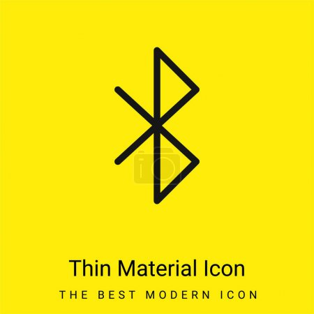 Bluetooth minimal bright yellow material icon