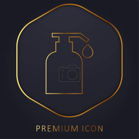 Illustration pour Huile pour le corps ligne d'or logo premium ou icône - image libre de droit