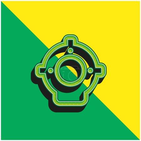Aqualung Green and yellow modern 3d vector icon logo