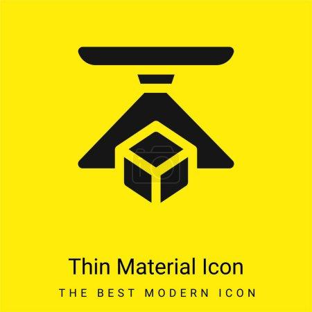 Illustration pour Icône matérielle jaune vif minimale 3d - image libre de droit