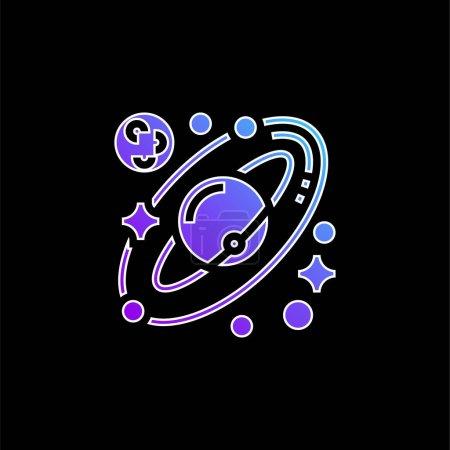 Astronomy blue gradient vector icon