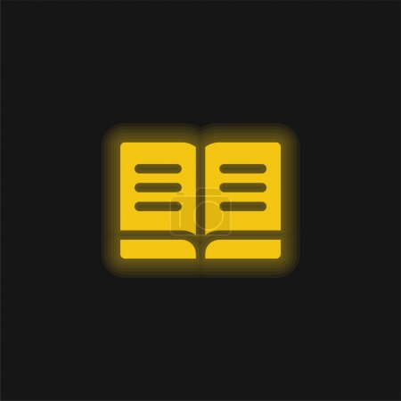 Illustration for Book yellow glowing neon icon - Royalty Free Image