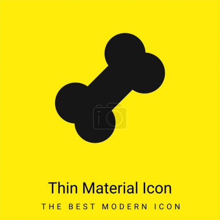 Bone minimal bright yellow material icon