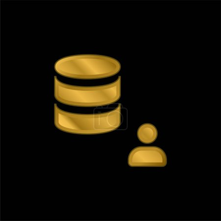 Illustration for Admin gold plated metalic icon or logo vector - Royalty Free Image