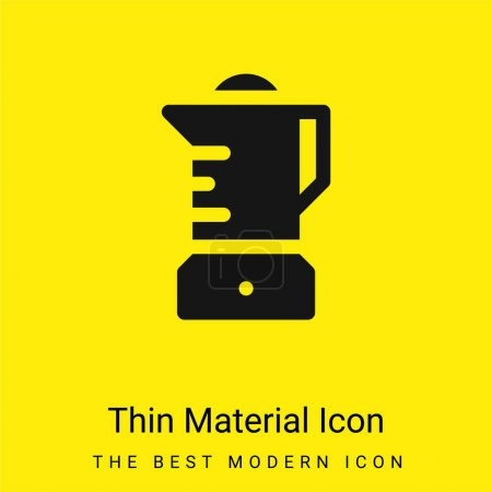 Photo pour Mélangeur minimal icône de matériau jaune vif - image libre de droit