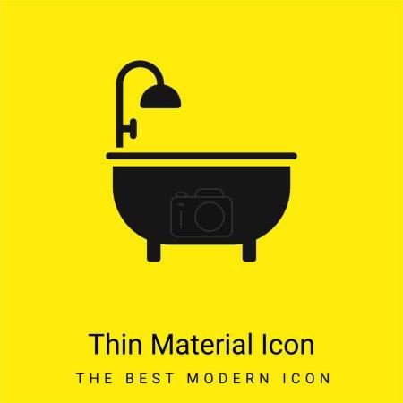 Baignoire minime jaune vif icône matérielle