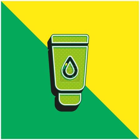 Illustration pour Bébé Crème Vert et jaune moderne icône vectorielle 3d logo - image libre de droit