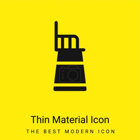 Illustration for Baby Chair minimal bright yellow material icon - Royalty Free Image