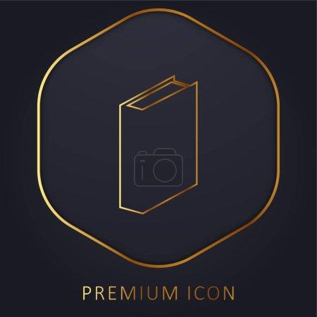 Photo pour Livre ligne d'or logo premium ou icône - image libre de droit