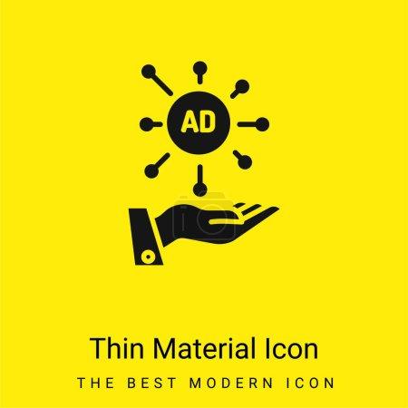 Illustration pour Icône matérielle jaune vif minimale publicitaire - image libre de droit