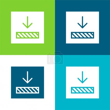 Alignment Flat four color minimal icon set