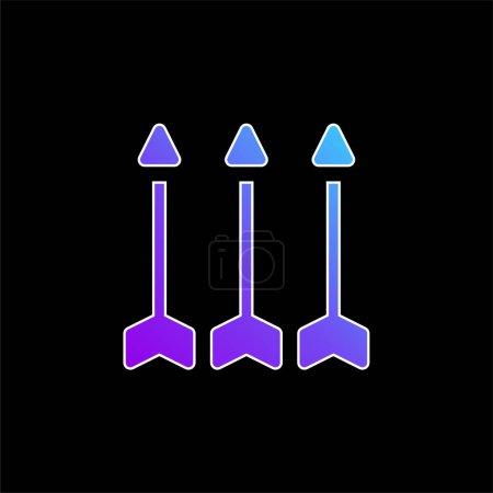 Flèches bleu dégradé vecteur icône