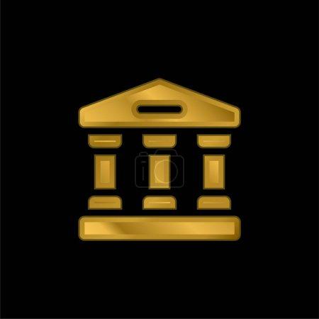 Illustration pour Icône métallique plaqué or bancaire ou vecteur de logo - image libre de droit