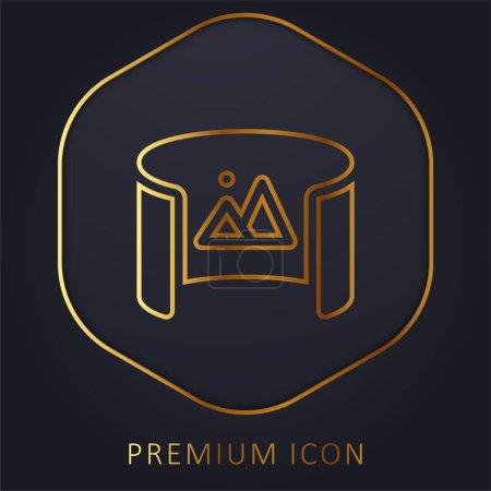 Illustration pour 360 Voir la ligne d'or logo premium ou icône - image libre de droit