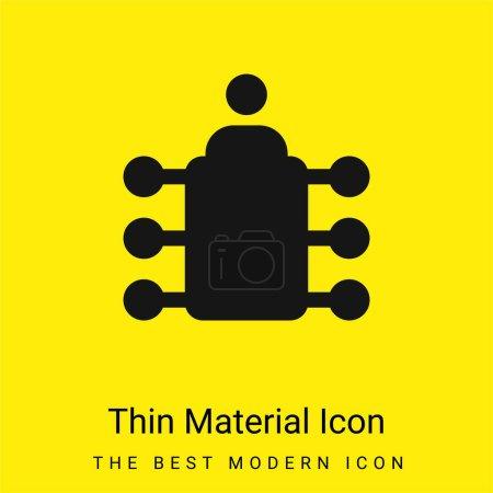 Photo pour Panneau minimal jaune vif icône matérielle - image libre de droit