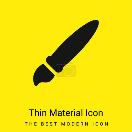 Illustration for Artist Tool minimal bright yellow material icon - Royalty Free Image