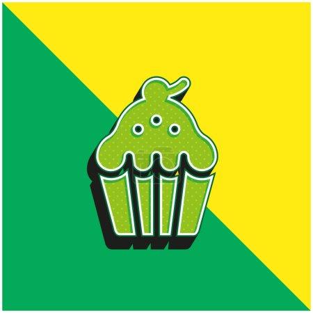 Illustration pour Logo vectoriel 3d moderne vert et jaune cuit au four - image libre de droit