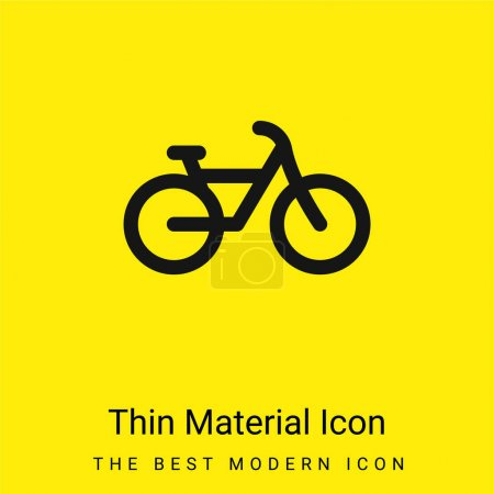 Illustration for Bike minimal bright yellow material icon - Royalty Free Image