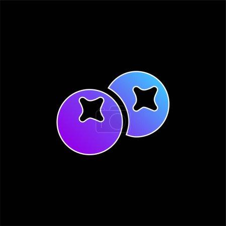Illustration pour Icône vectorielle gradient bleu baies - image libre de droit
