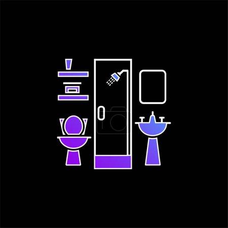 Bathroom Furniture blue gradient vector icon