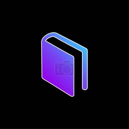 Illustration pour Livre de couverture noire en position diagonale icône vectorielle dégradé bleu - image libre de droit