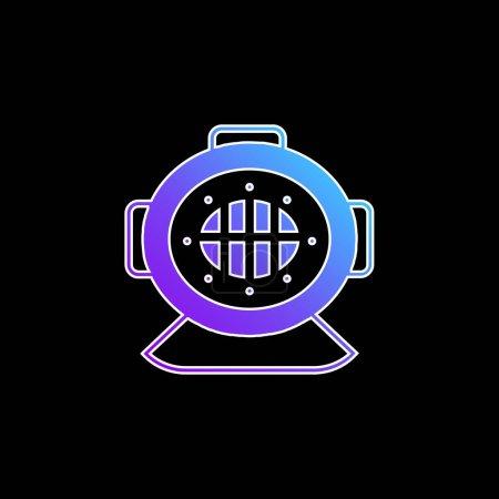 Aqualung blue gradient vector icon