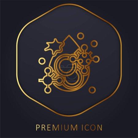 Illustration pour Ligne d'or sang logo premium ou icône - image libre de droit
