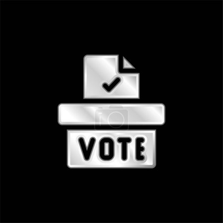 Illustration pour Icône métallique argentée de l'urne - image libre de droit