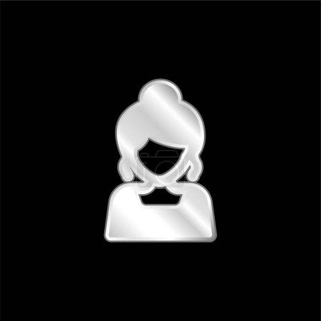 Illustration pour Icône métallique plaquée argent mariée - image libre de droit