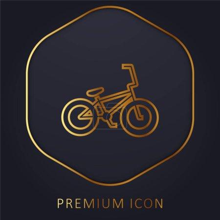 Illustration pour Bicyclette ligne d'or logo premium ou icône - image libre de droit