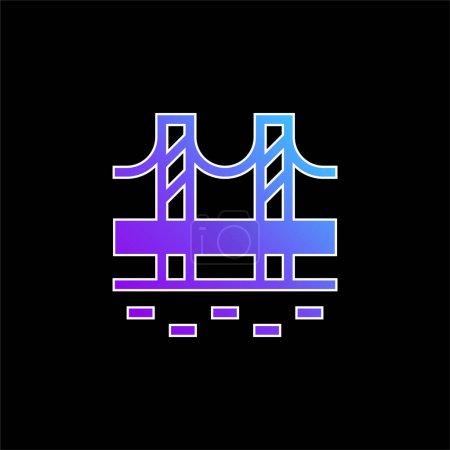 Illustration for Bridge blue gradient vector icon - Royalty Free Image