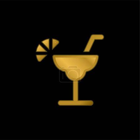 Illustration pour Icône métalique plaqué or alcool ou vecteur de logo - image libre de droit
