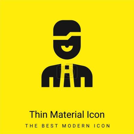 Photo pour Icône matérielle minimale de comptabilité jaune vif - image libre de droit