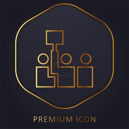 Illustration pour Vente aux enchères ligne d'or logo premium ou icône - image libre de droit