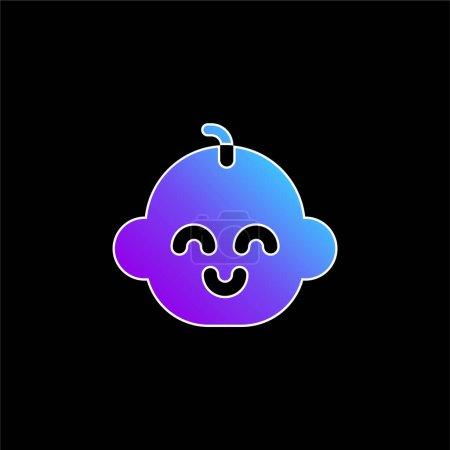 Illustration pour Bébé Garçon bleu dégradé vecteur icône - image libre de droit