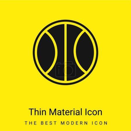 Illustration pour Ballon de basket icône matérielle jaune vif minimale - image libre de droit