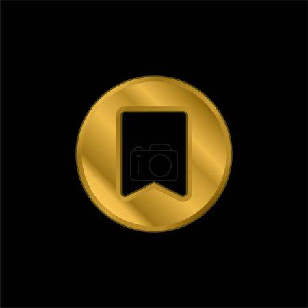 Illustration pour Signet plaqué or icône métallique ou logo vecteur - image libre de droit