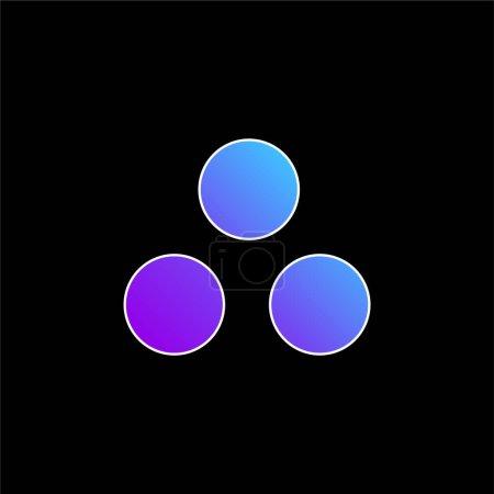 Illustration pour Icône vectorielle dégradé bleu munitions - image libre de droit