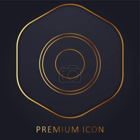 Atom Circular Symbol Of Circles golden line premium logo or icon